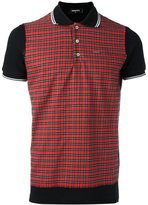DSQUARED2 gingham check polo shirt