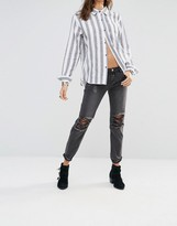 One Teaspoon Awesome Baggies Black Distressed Jeans
