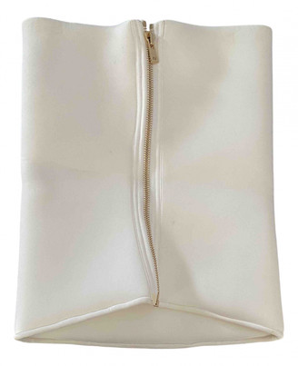 Alexandre Vauthier White Synthetic Tops