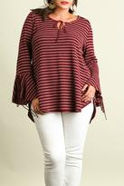 Umgee USA Bell Sleeve Plus Top