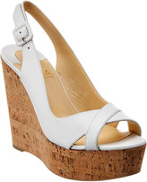 Christian Louboutin Reine De Liege 120 Leather Wedge Sandal
