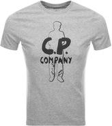 C.P. Company Logo T Shirt Grey
