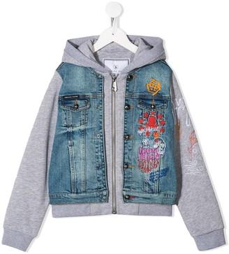 Philipp Plein Graffiti Print Zipped Jacket