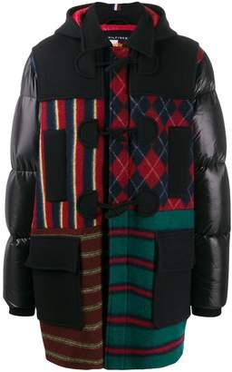Tommy Hilfiger patchwork duffle coat