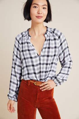 Cloth & Stone Sara Plaid Blouse