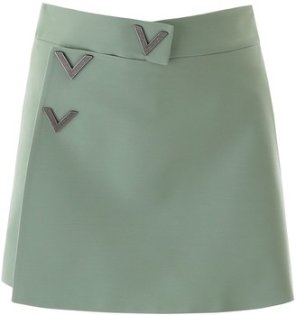 Valentino V Buttoned High Rise Shorts