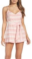 BB Dakota Women's Stripe Sash Tie Romper