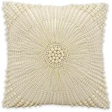 Kathy Ireland Home® by Gorham 12-Inch Square Throw Pillow in Ivory