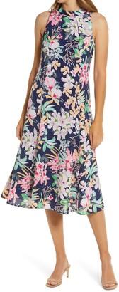Donna Ricco Floral Midi Dress
