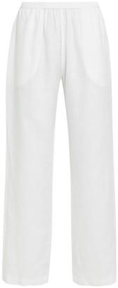 Enza Costa Linen Wide-Leg Lounge Pants