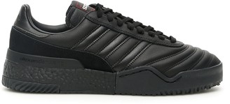 Adidas Originals By Alexander Wang BBALL SOCCER SNEAKERS 11 Black Leather