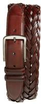 Magnanni Men's Woven Leather Belt