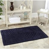 Safavieh Spa 2400 Gram Diamonds Navy Gram 27 x 45 Bath Rug (Set of 2)