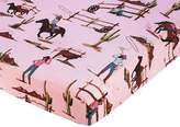 Western Cowgirl Fitted Crib Sheet for Baby and Toddler Bedding Sets by Sweet Jojo Designs - Cowgirl Horse Print