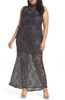 Marina Plus Size Women's Illusion Lace Gown