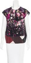 Fendi Floral Print Short Sleeve Blouse