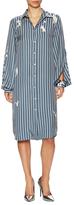 Jil Sander Striped Blouson Shirtdress