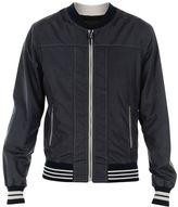 Dolce & Gabbana Dark Blue Stitching Detail Bomber Jacket