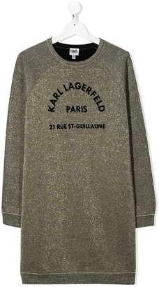 Karl Lagerfeld Paris TEEN logo jumper dress