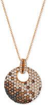 LeVian Le Vian Exotics Diamond Ombre Disc Pendant Necklace (2 ct. t.w.) in 14k Rose Gold