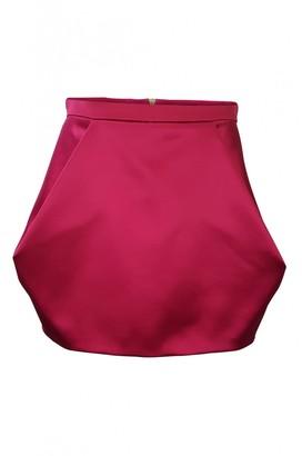 Balmain Pink Silk Skirt for Women