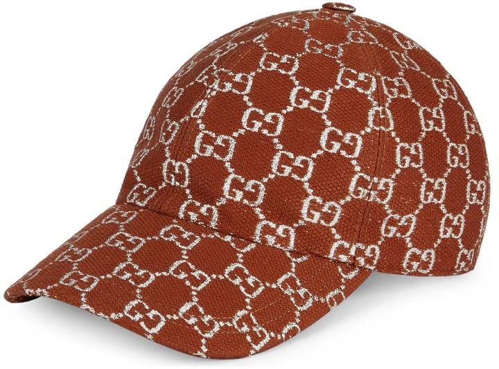 Gucci GG lame baseball hat