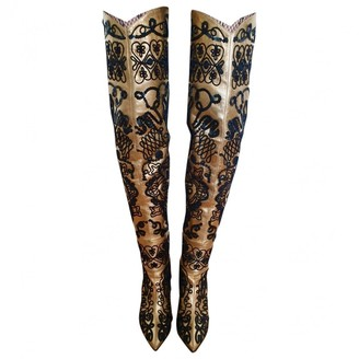 N. Non Signé / Unsigned Non Signe / Unsigned \N Gold Leather Boots