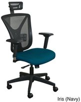 Marvel Fully Assembled Executive Mesh Chair with Black Base and Headrest