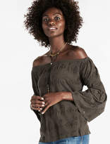 Lucky Brand Eyelet Off The Shoulder Top