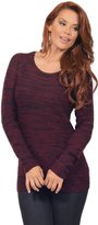 Hot From Hollywood Women's Casual Scoop Neck Long Sleeve Heathered Cashmerlon Sweater