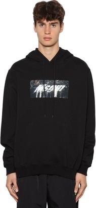 MSGM Logo Print Cotton Jersey Hoodie