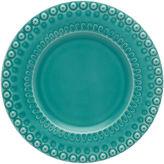 One Kings Lane Fantasy Dessert Plate, Turquoise