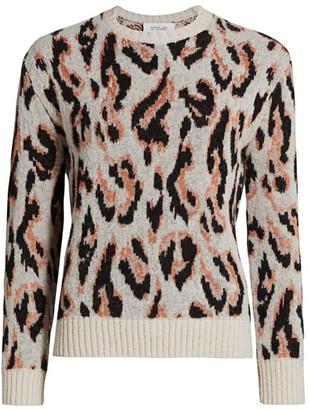 Derek Lam 10 Crosby Evan Textured Leopard Sweater