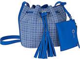 C. Wonder Printed Pebble Leather Crossbody Bucket Handbag