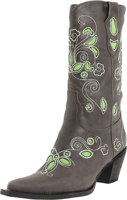 Roper Women's Floral Underlay Mid-Calf Boot