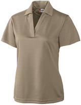 Clique Khaki Sonoma Textured Performance Polo