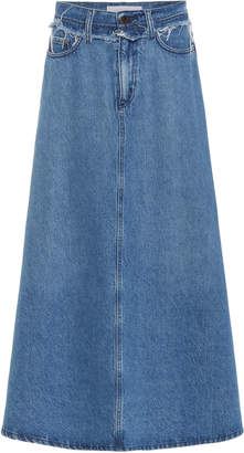 Nobody Denim Como High-Rise Denim Midi Skirt