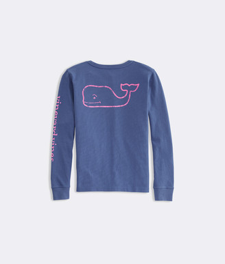 Vineyard Vines Girls' Long-Sleeve Glow In The Dark Pocket Tee