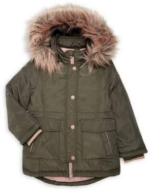 MICHAEL Michael Kors Girl's Faux-Fur Snorkel Jacket