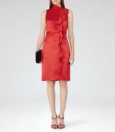 Reiss Lola Ruffle-Front Dress