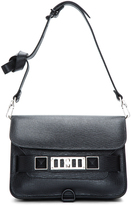 Proenza Schouler Black Textured Leather Mini PS11 Shoulder Bag