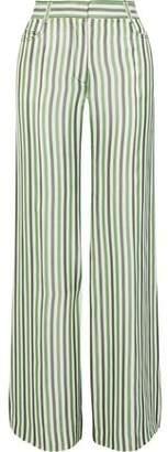 Sonia Rykiel Striped Poplin Wide-leg Pants