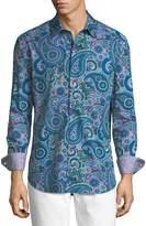 Robert Graham Tuberia Paisley-Print Classic-Fit Sport Shirt
