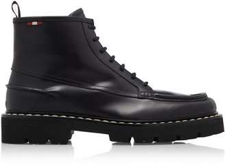 Bally Lysius Leather Lace-Up Ankle Boots