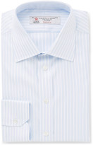 Turnbull & Asser - Blue Slim-fit Striped Cotton-twill Shirt
