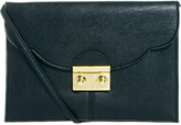 Asos Clutch Bag With Scallop Flap