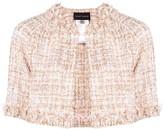 Talbot Runhof tweed cropped jacket