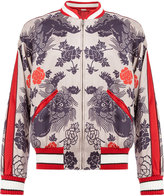 Gucci oriental print bomber jacket - men - Silk/Viscose - 44