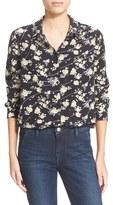 The Kooples Women's Floral Print Silk Shirt