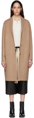 Acne Studios Tan Wool Single-Breasted Coat